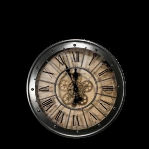Uhr Virginia Grau L (60cm Ø)