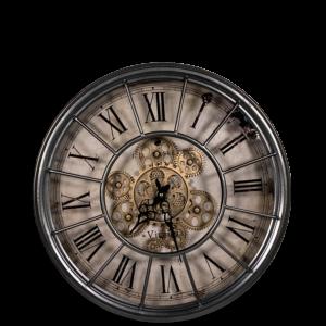 Uhr Virginia Grau S (46cm Ø)