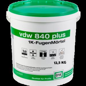 GftK vdw 840 Plus 1K-Fugenmörtel 12,5 kg-Eimer – BASALT