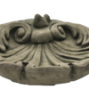 Vogelbad, Vogeltränke, Ornament, Spatz, Muschel