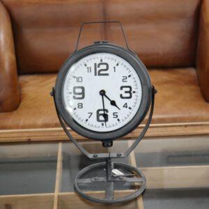 Tischuhr Virginia Grau 17x24x40 cm