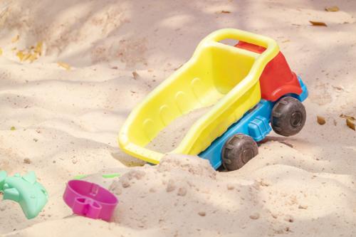 Sankiste und Sandkasten Sand