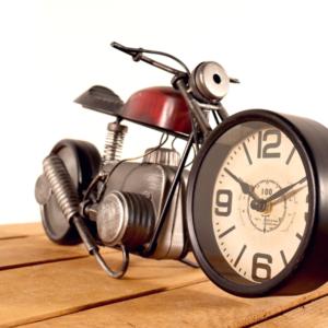 Tisch Uhr Motorrad/Bike rot